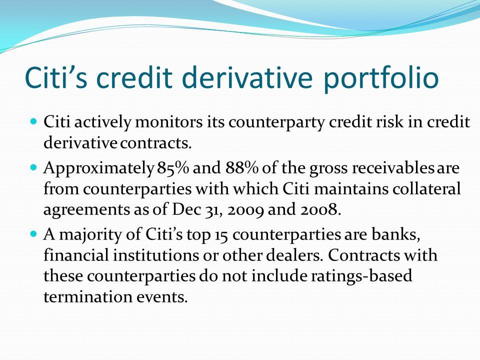 Citi's credit derivative portfolio