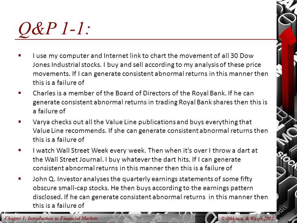 Q&P 1-1: