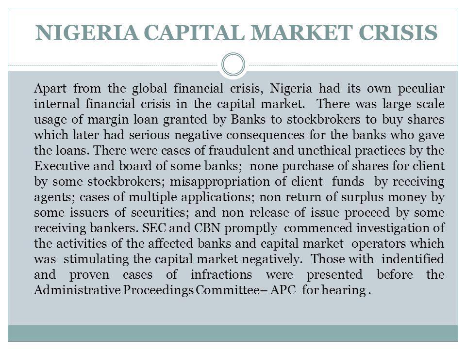 NIGERIA CAPITAL MARKET CRISIS