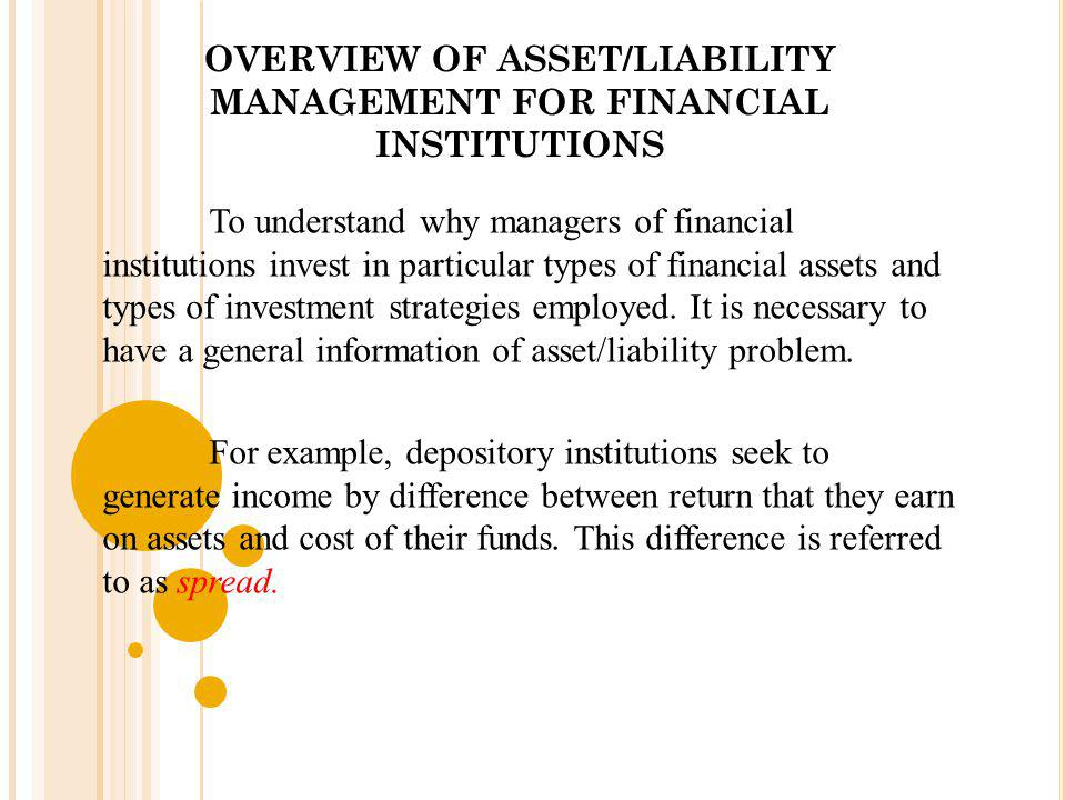 OVERVIEW OF ASSET/LIABILITY MANAGEMENT FOR FINANCIAL INSTITUTIONS