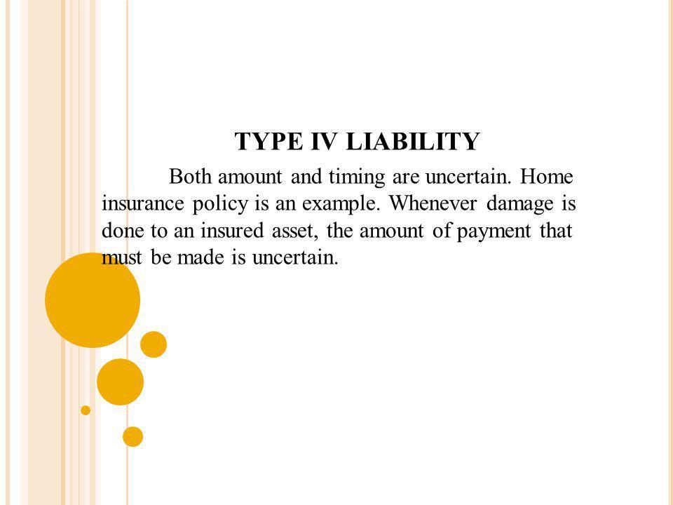 TYPE IV LIABILITY