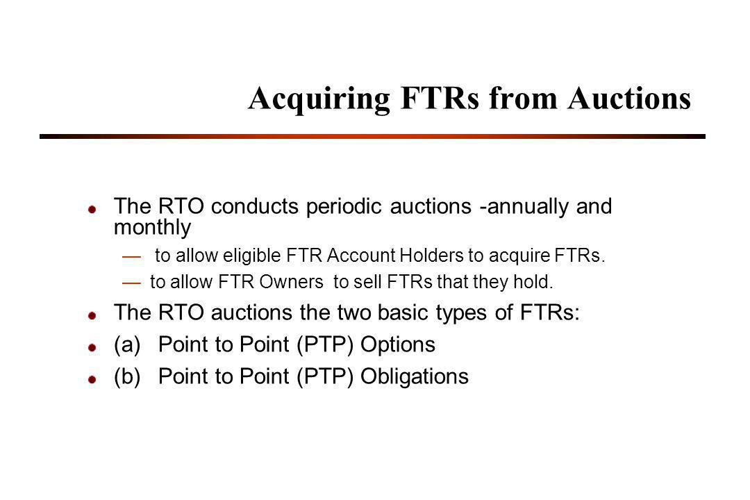 Acquiring FTRs from Auctions