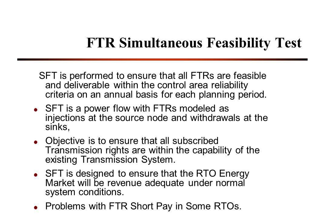 FTR Simultaneous Feasibility Test