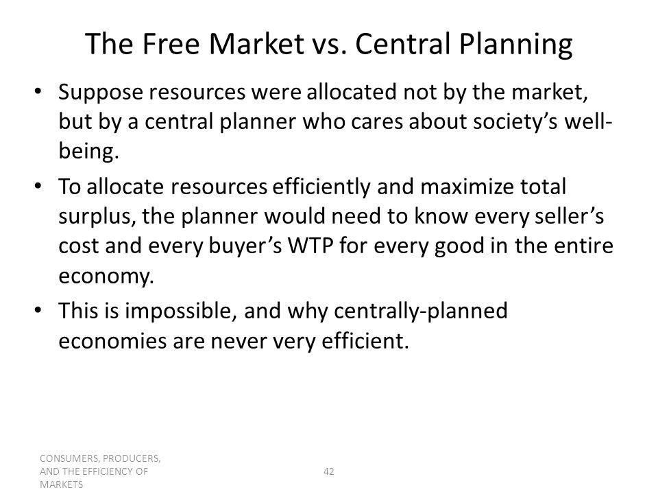 The Free Market vs. Central Planning