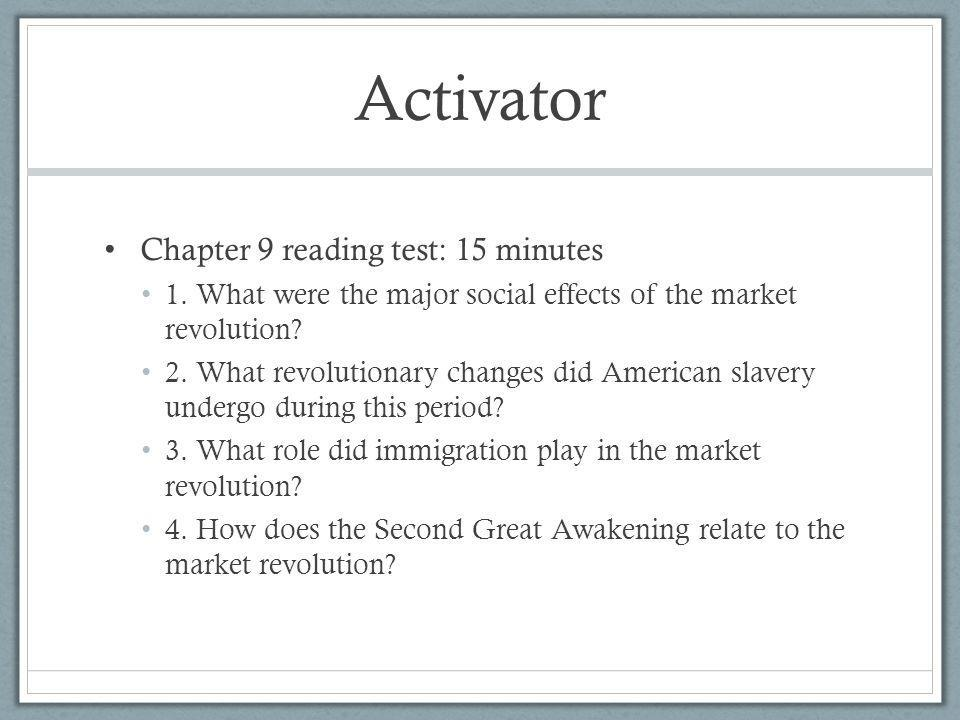 Activator Chapter 9 reading test: 15 minutes
