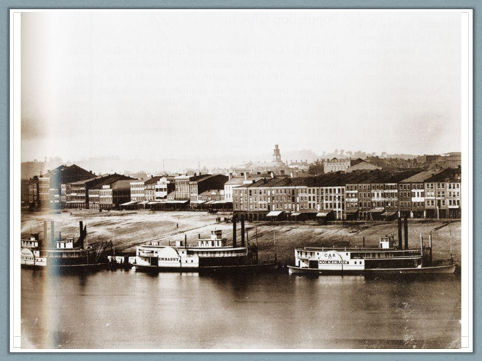 Ch. 9, Image 13 A view of Cincinnati, self-styled Queen City of the West, in a photograph from 1848. Steamboats line the Ohio River waterfront.
