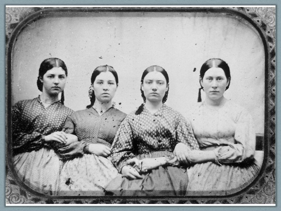 Ch. 9, Image 18 A photograph from around 1860 of four anonymous working women. Their stance and gaze suggest a spirit of independence.