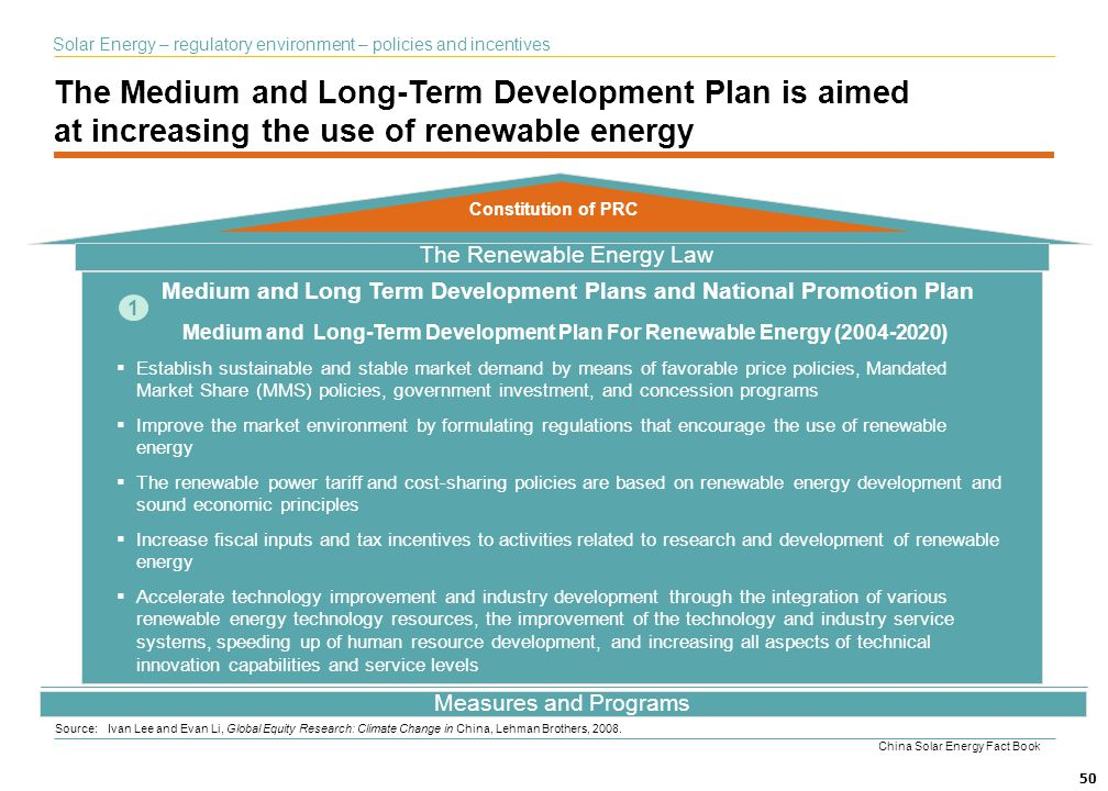 The Medium and Long-Term Development Plan is aimed