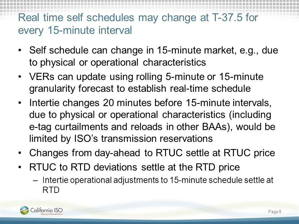 Real time self schedules may change at T-37