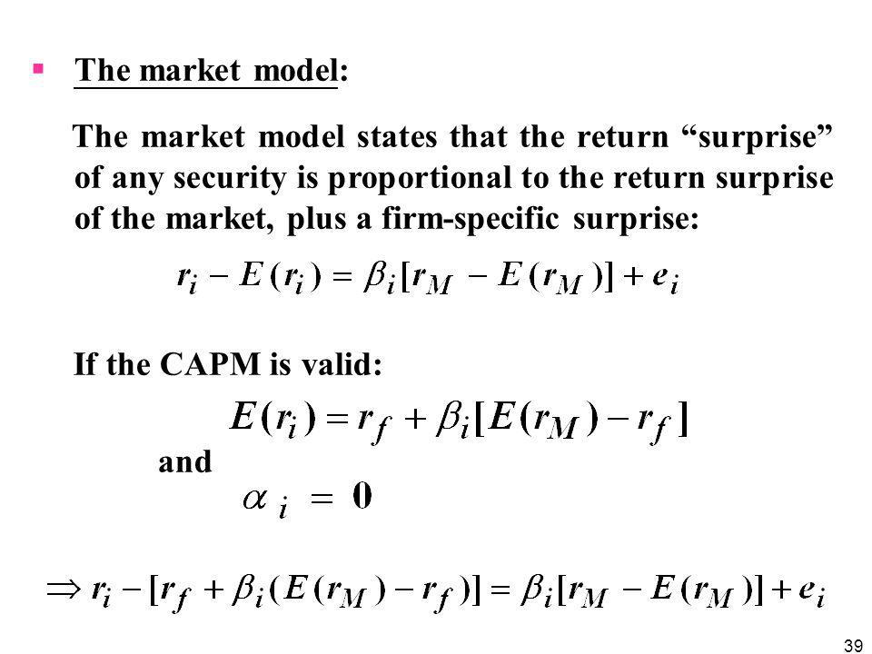 The market model: