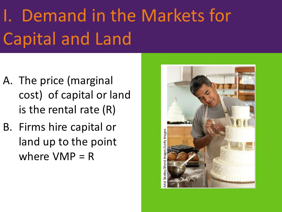 I. Demand in the Markets for Capital and Land