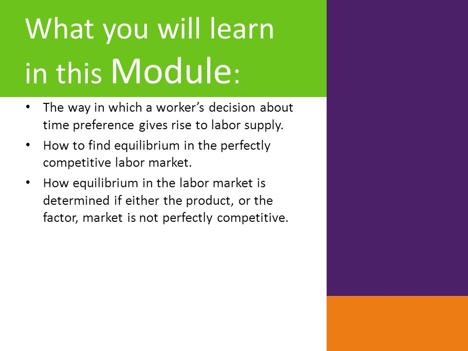 What you will learn in this Module: