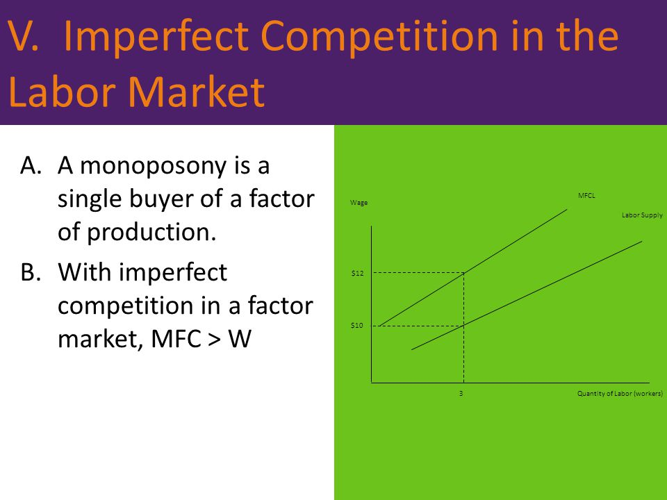 V. Imperfect Competition in the Labor Market