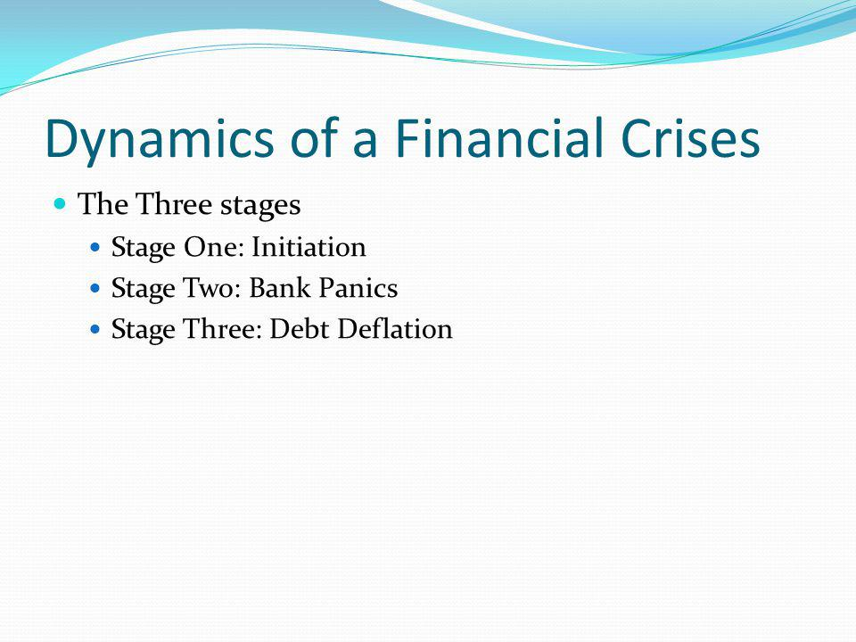 Dynamics of a Financial Crises