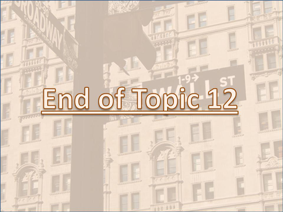 End of Topic 12