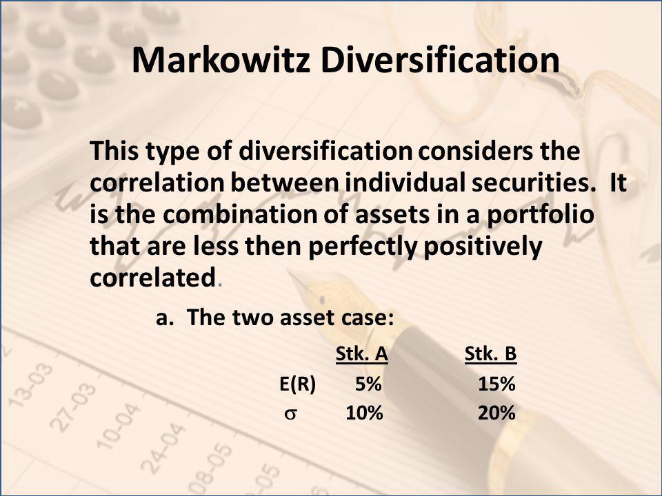 Markowitz Diversification