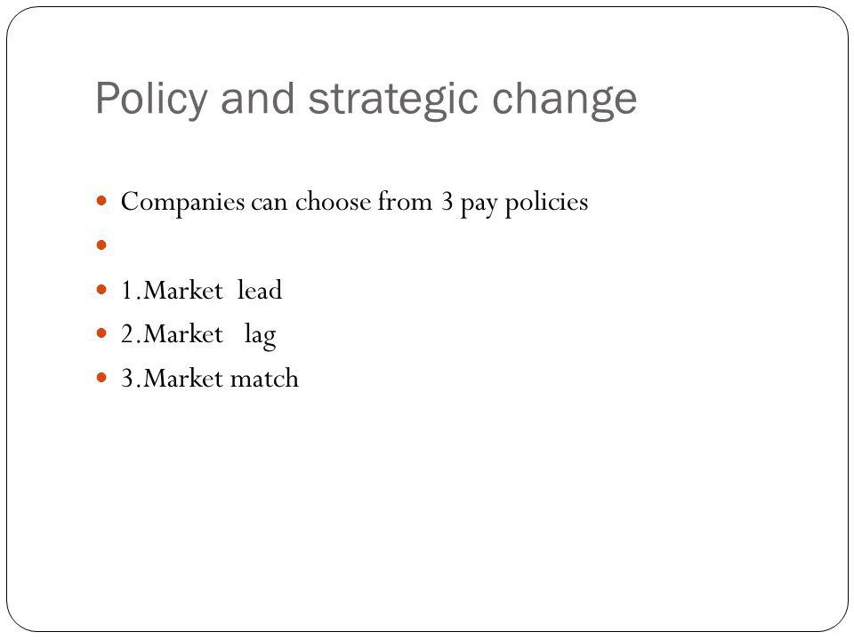 Policy and strategic change