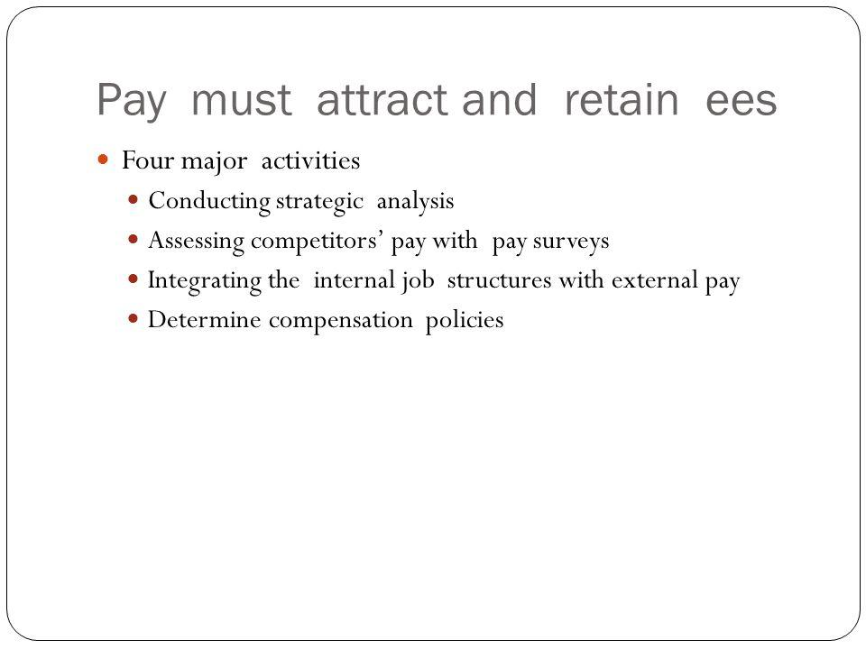 Pay must attract and retain ees