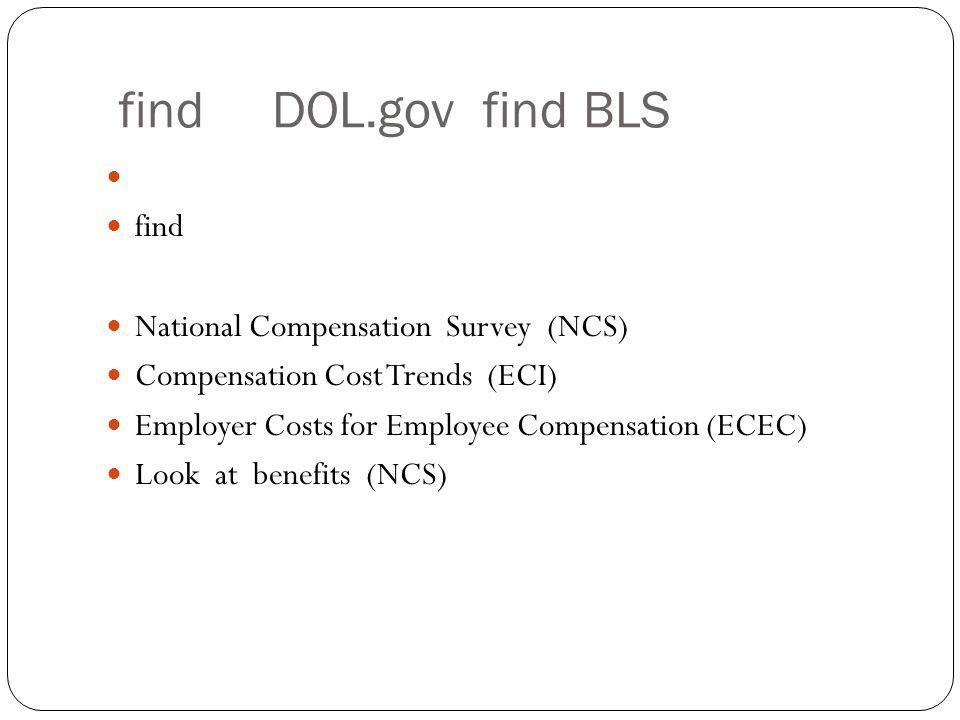 find DOL.gov find BLS find National Compensation Survey (NCS)