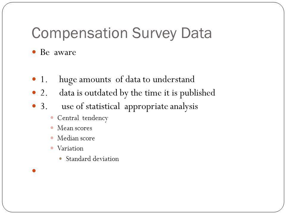 Compensation Survey Data