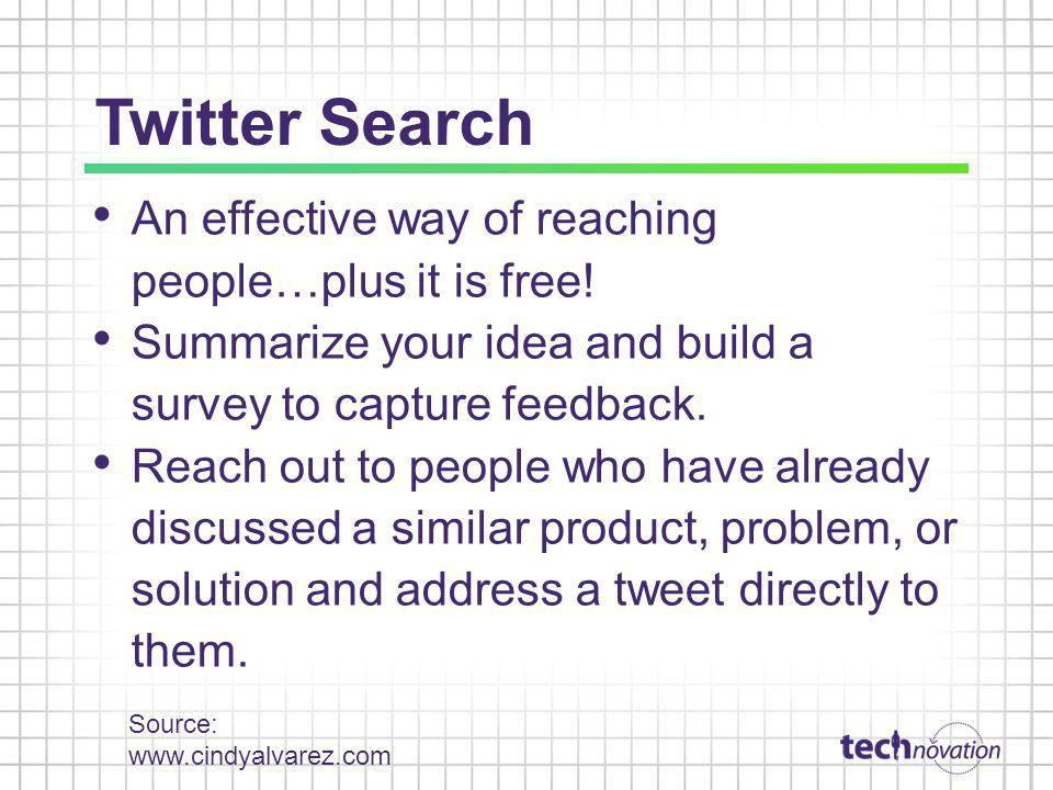 Twitter Search An effective way of reaching people…plus it is free!