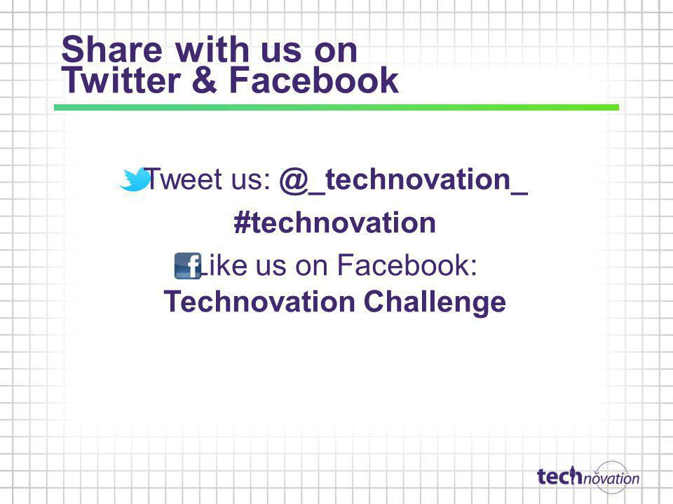 Share with us on Twitter & Facebook