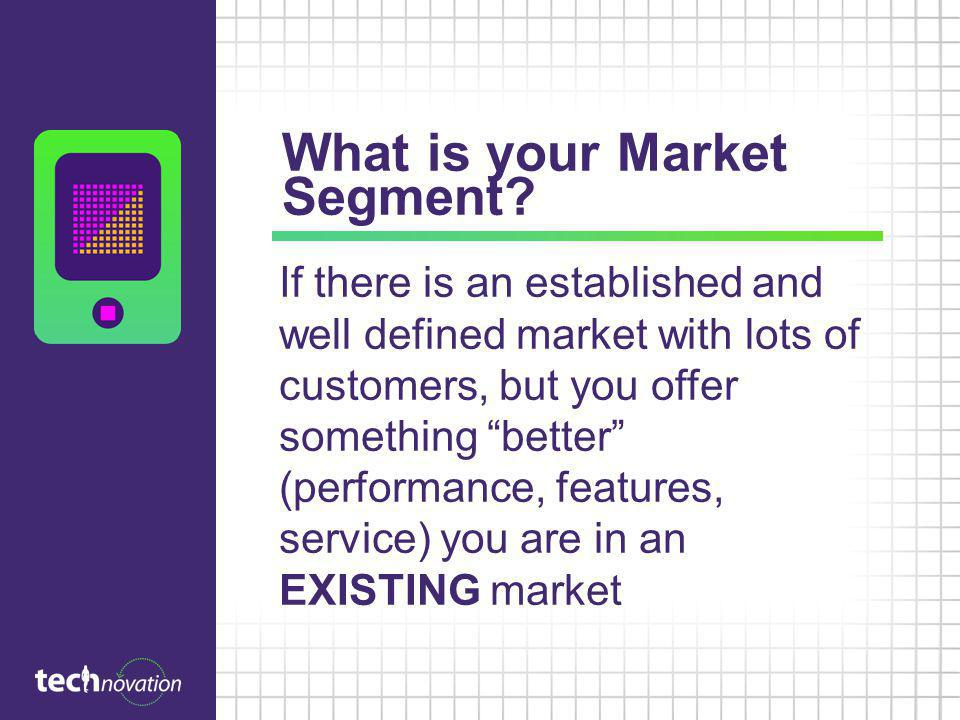What is your Market Segment