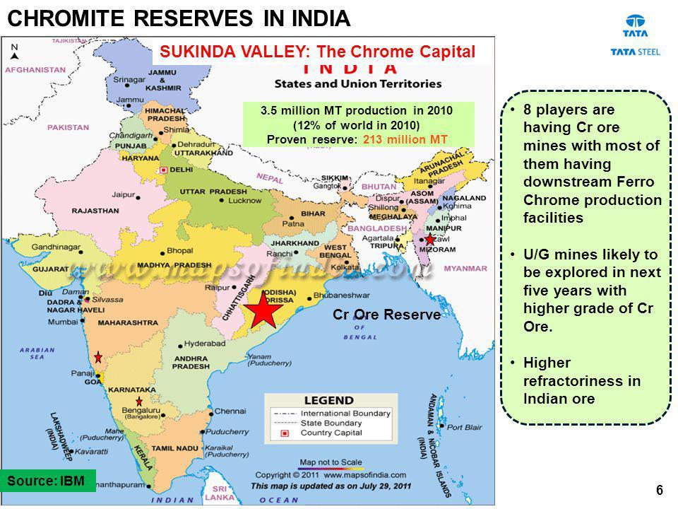 3.5 million MT production in 2010 Proven reserve: 213 million MT