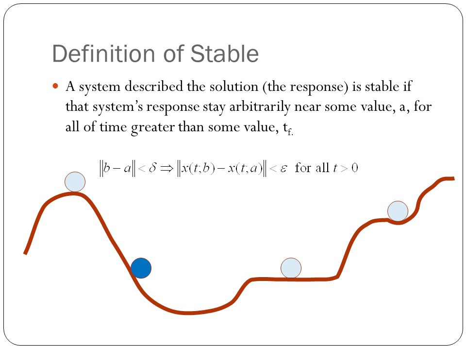 Definition of Stable