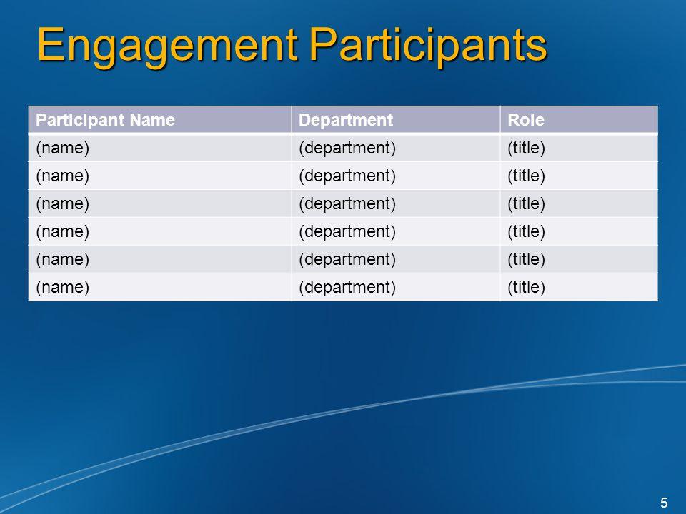 Engagement Participants