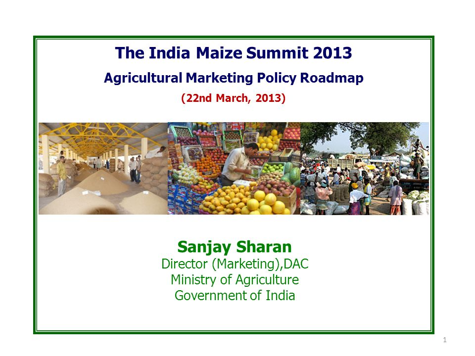 Agricultural Marketing Policy Roadmap