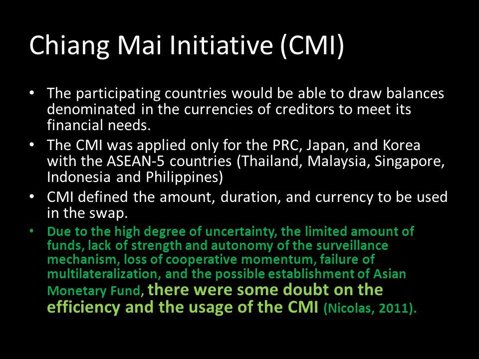 Chiang Mai Initiative (CMI)