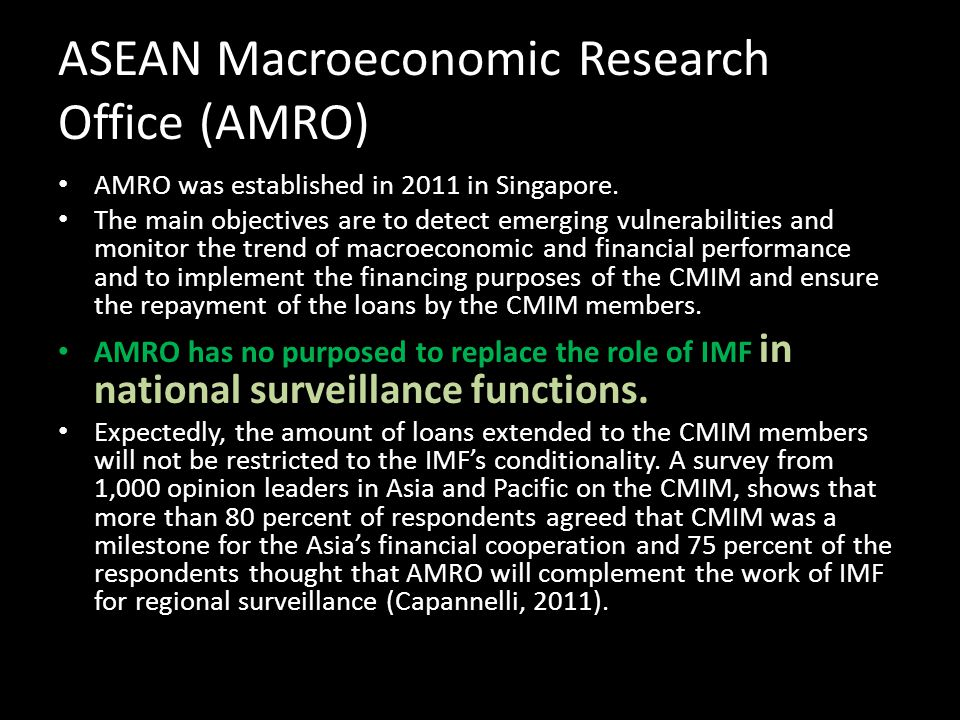 ASEAN Macroeconomic Research Office (AMRO)