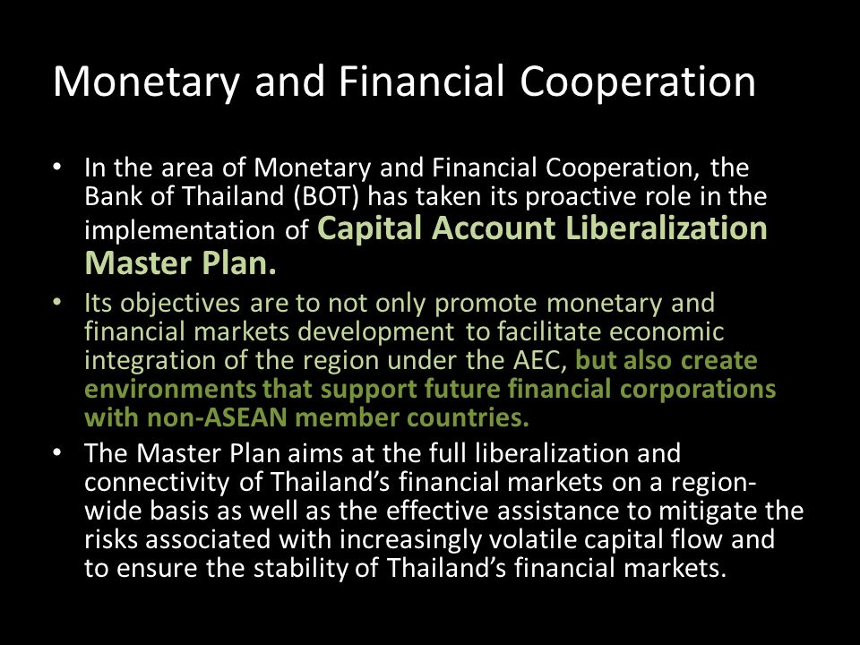 Monetary and Financial Cooperation