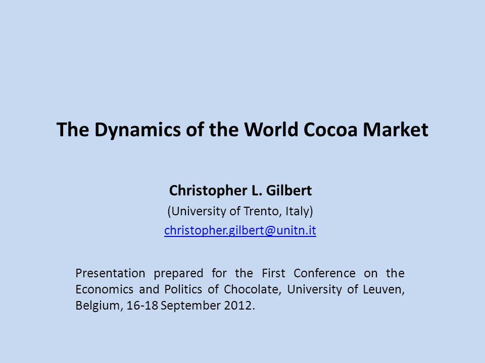 The Dynamics of the World Cocoa Market