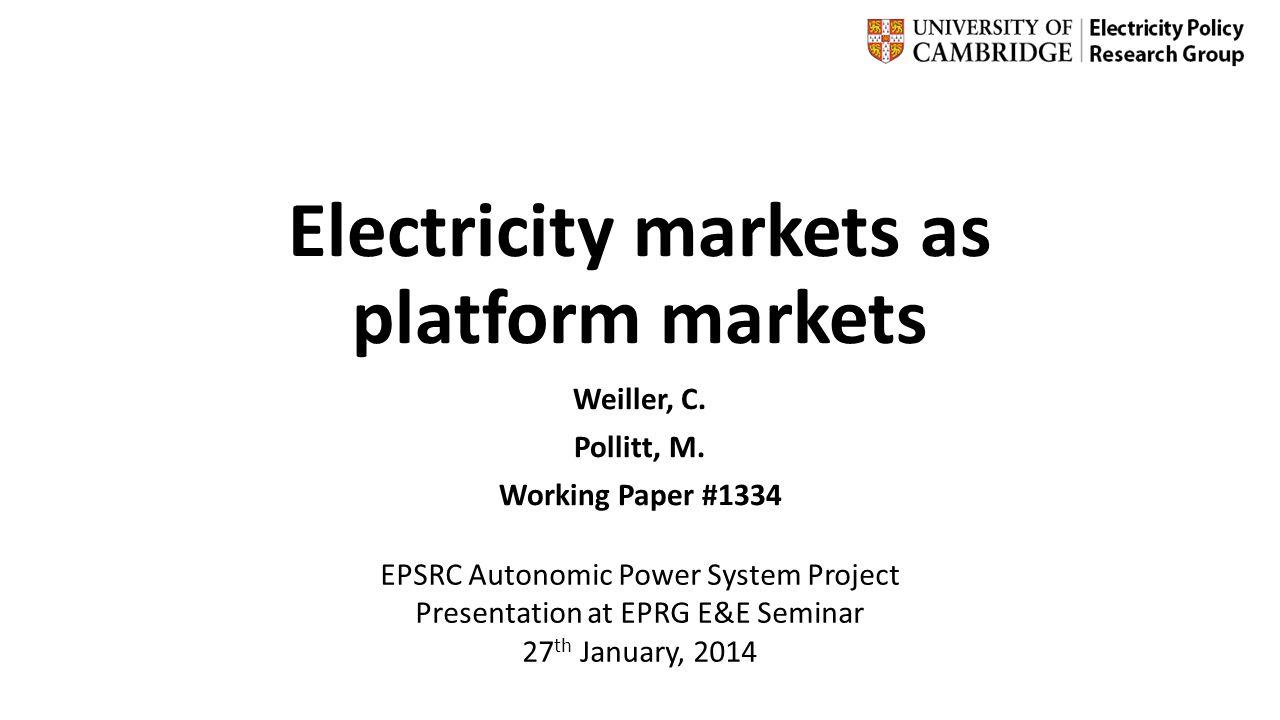 Electricity markets as platform markets