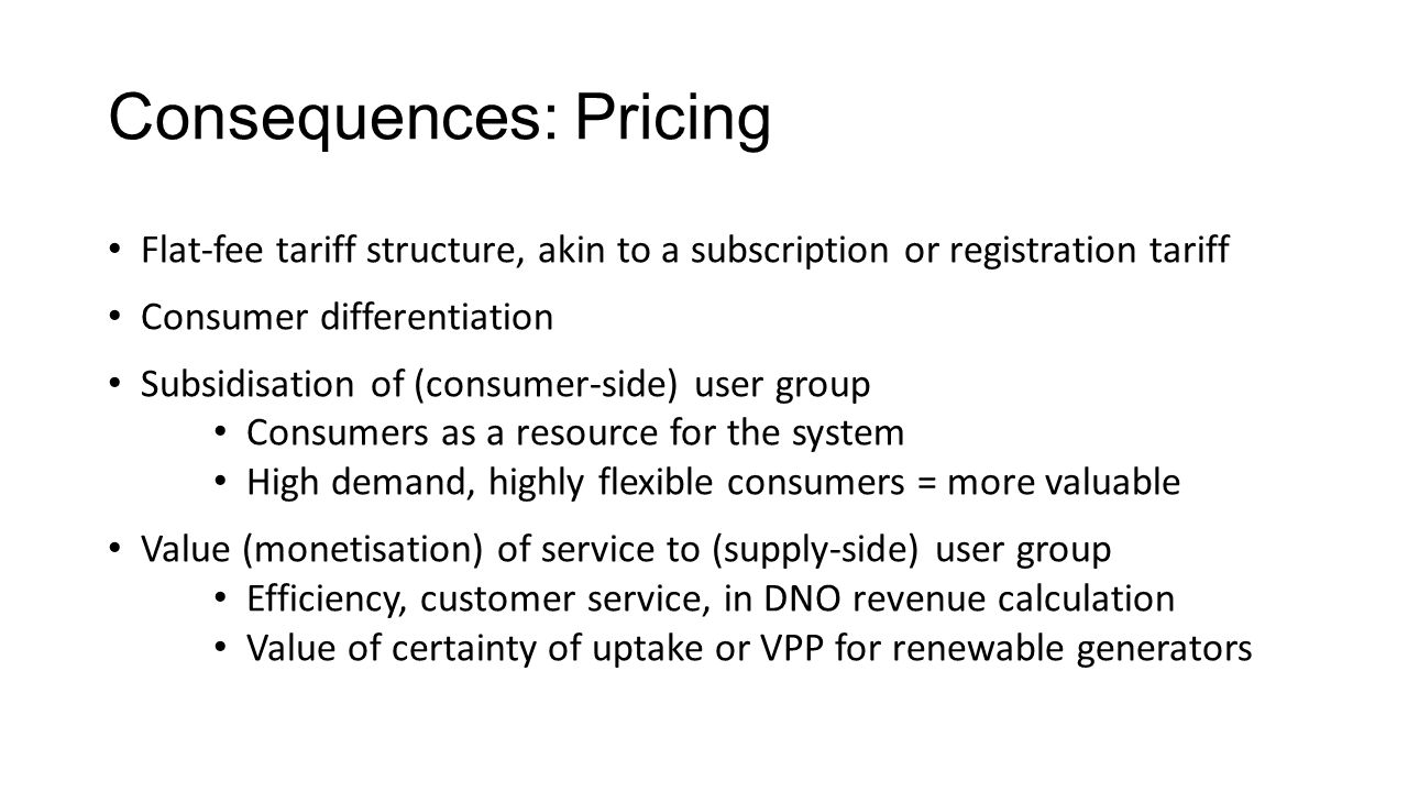 Consequences: Pricing