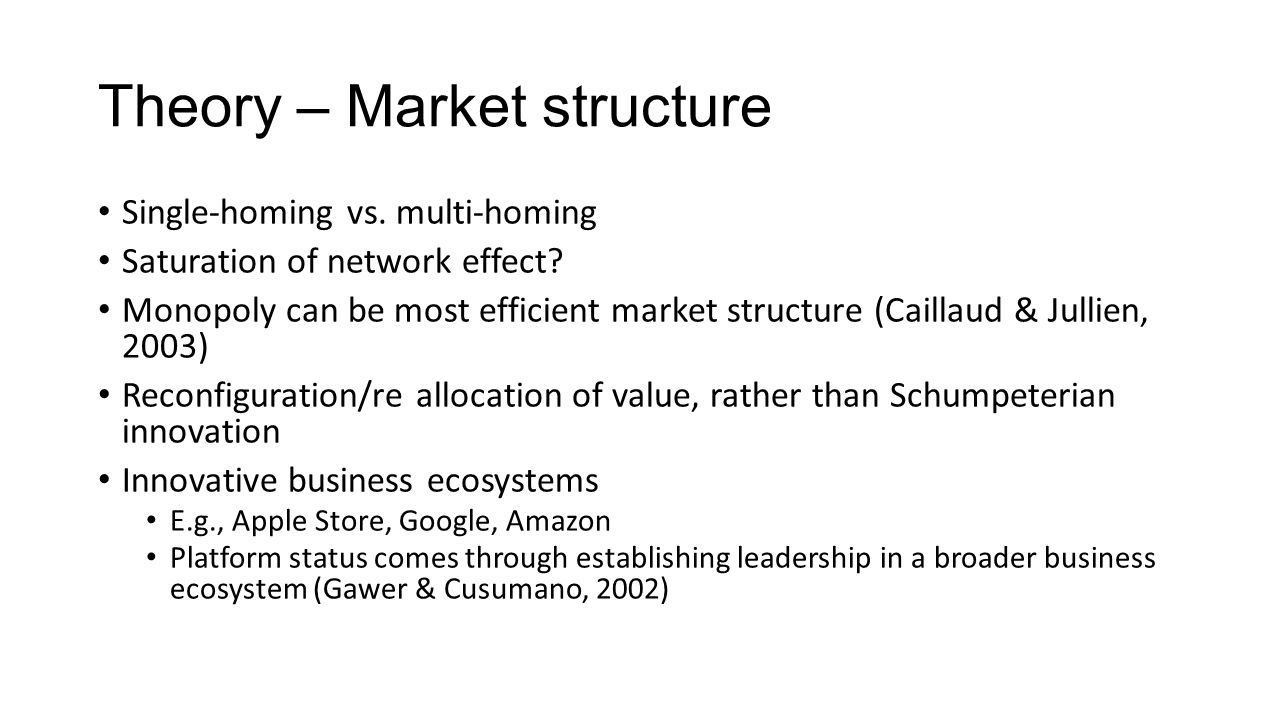 Theory – Market structure