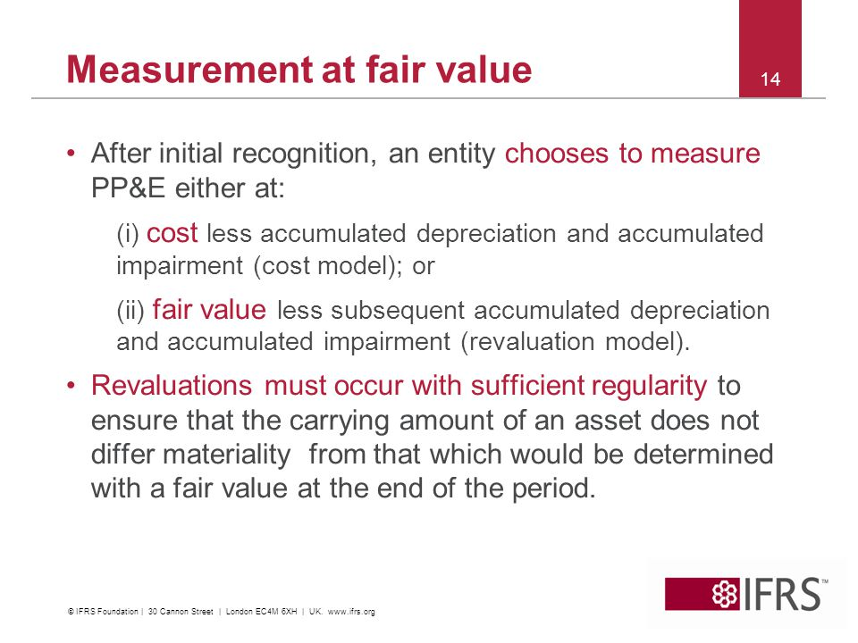 Measurement at fair value
