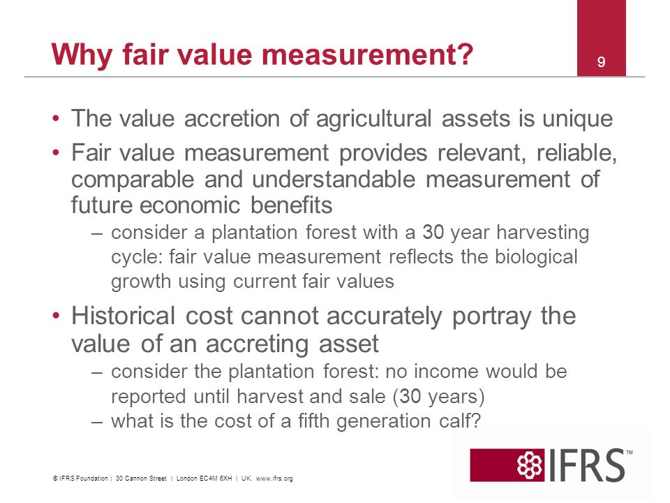 Why fair value measurement