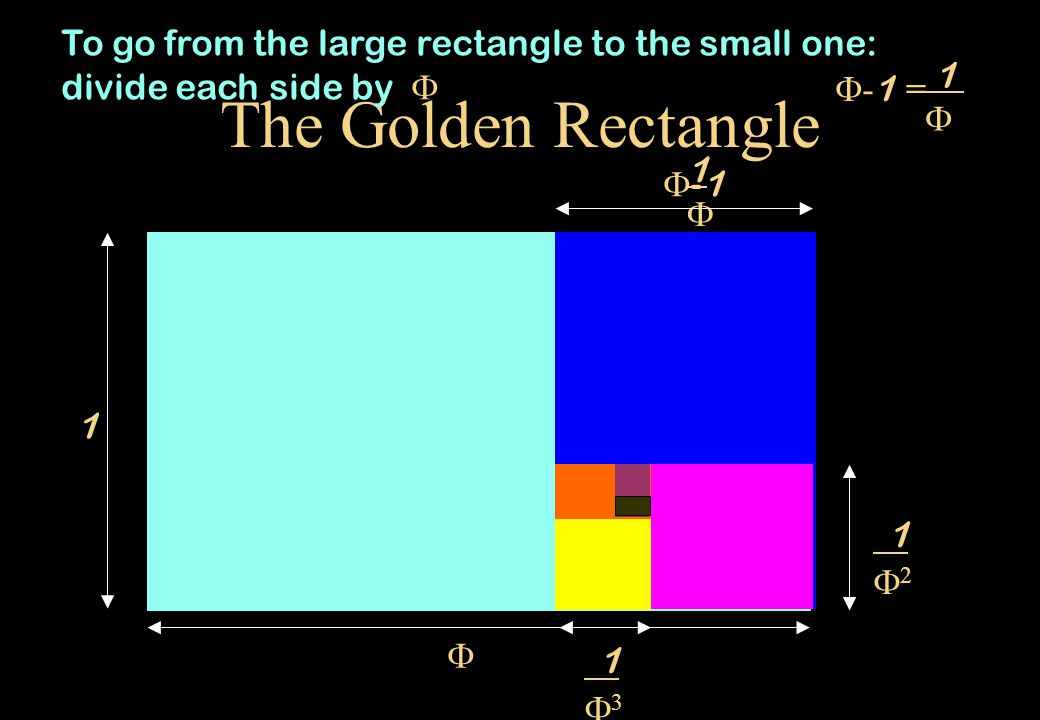 To go from the large rectangle to the small one: