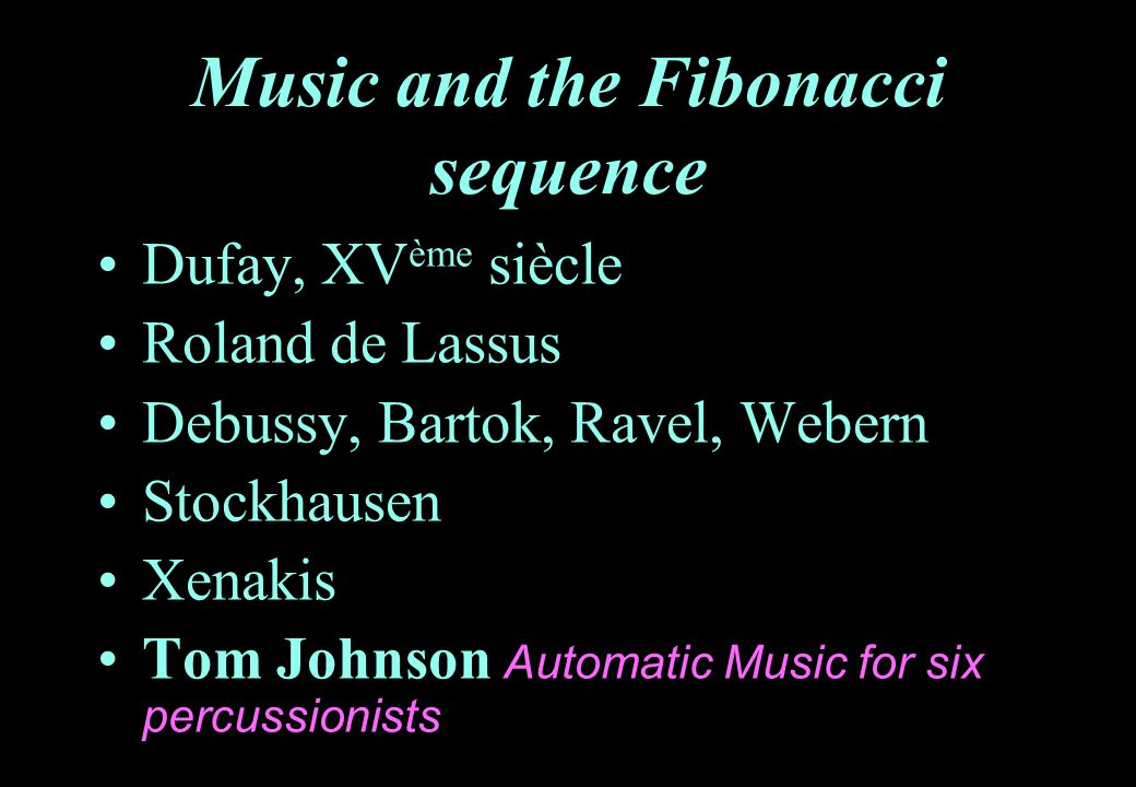 Music and the Fibonacci sequence