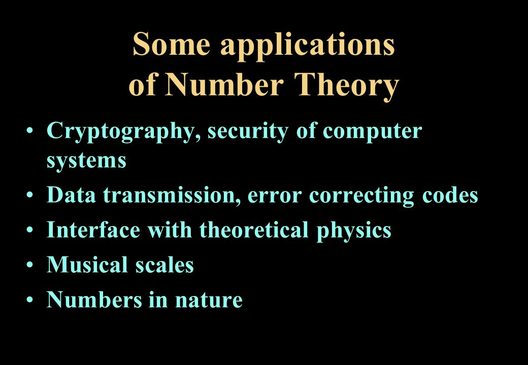 Some applications of Number Theory