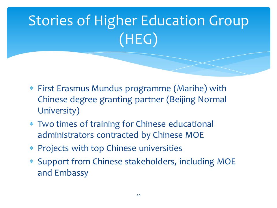 Stories of Higher Education Group (HEG)
