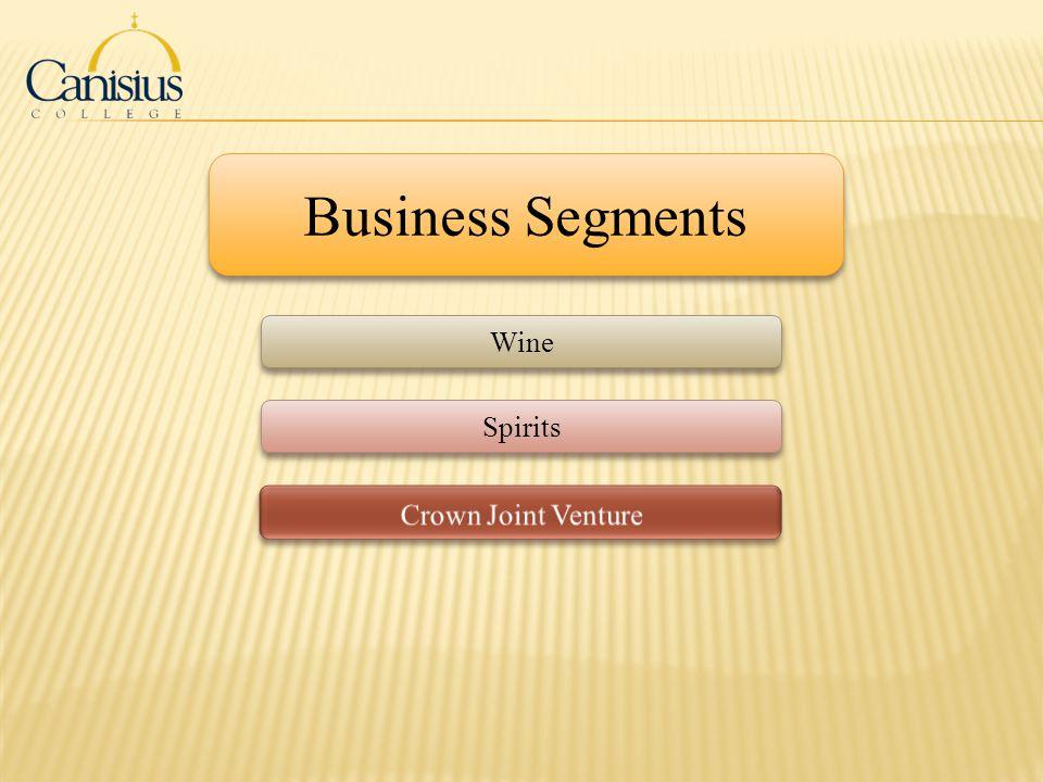 Business Segments Wine Spirits Crown Joint Venture