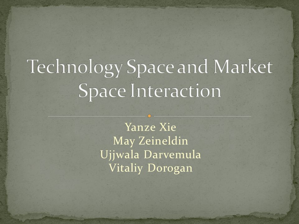 Technology Space and Market Space Interaction