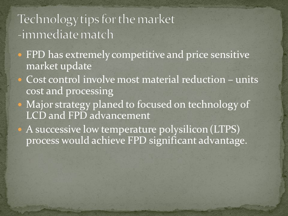 Technology tips for the market -immediate match