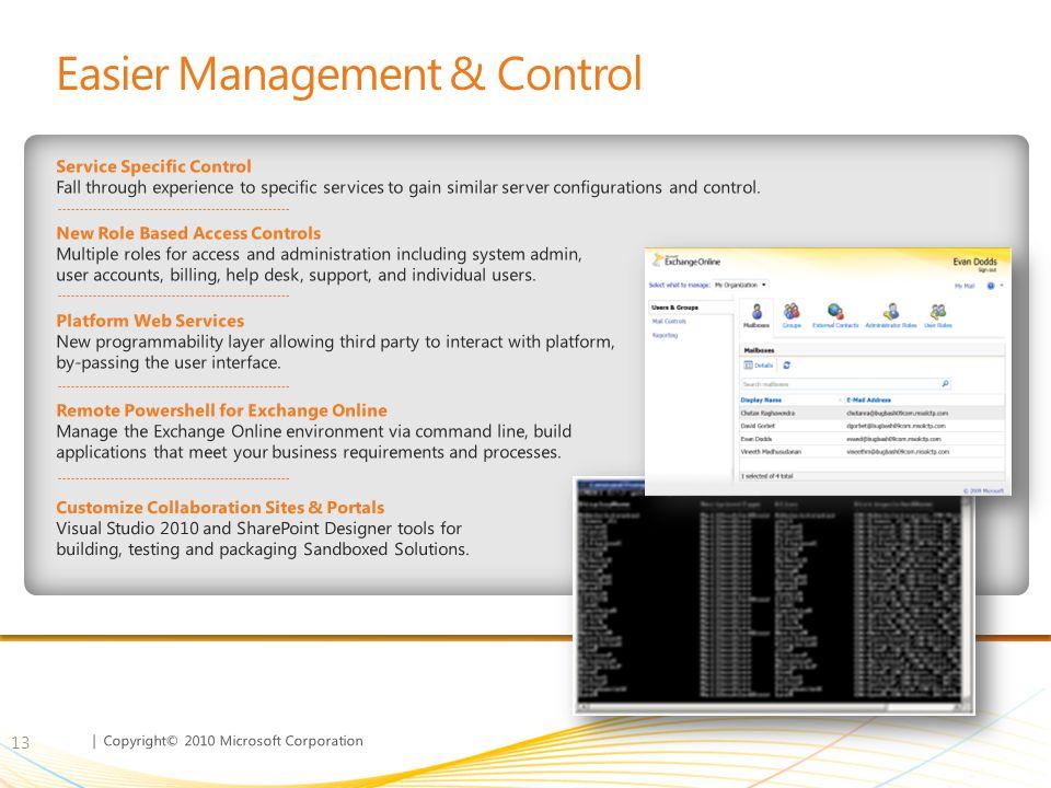 Easier Management & Control