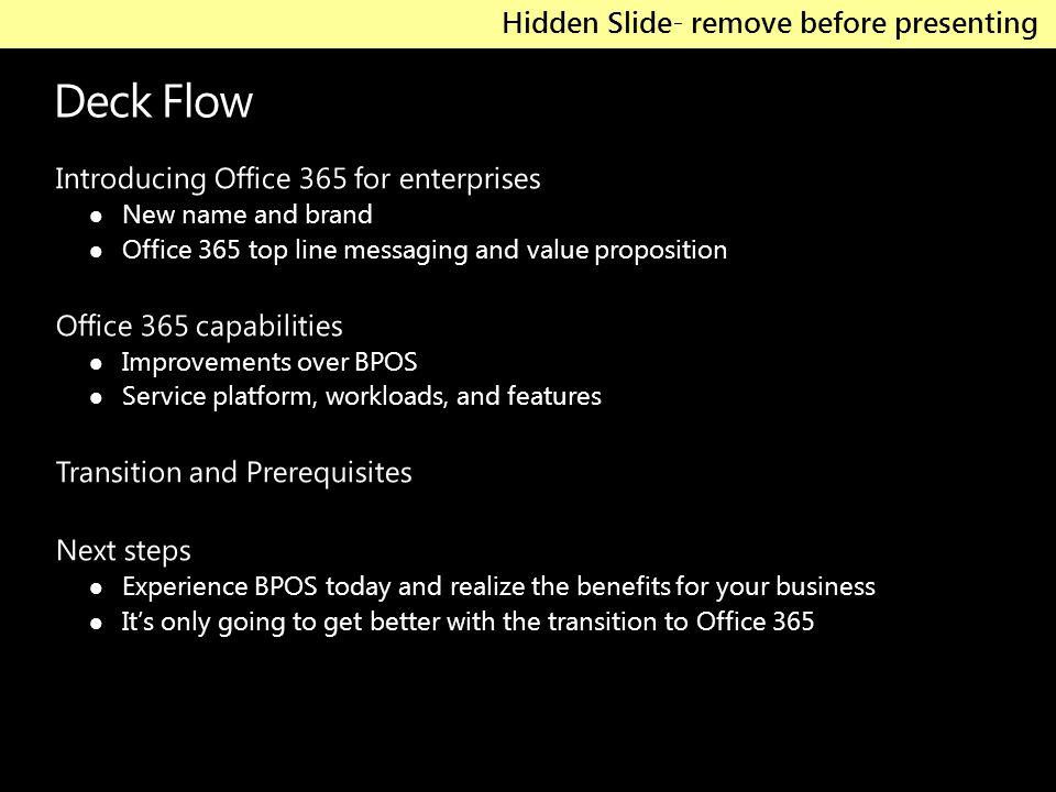 Deck Flow Hidden Slide- remove before presenting