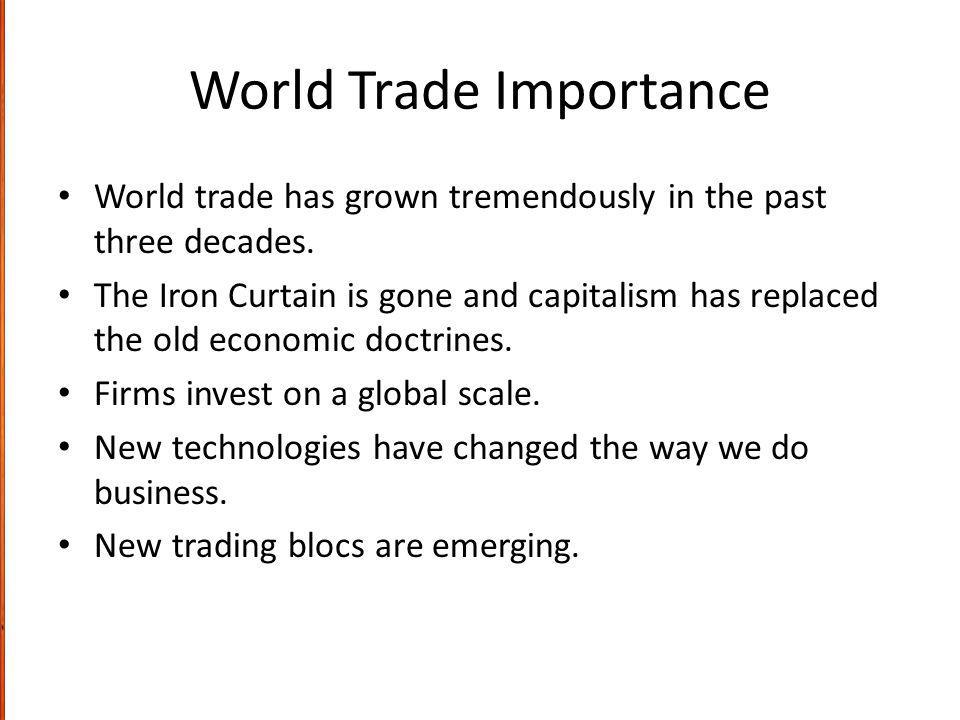 World Trade Importance